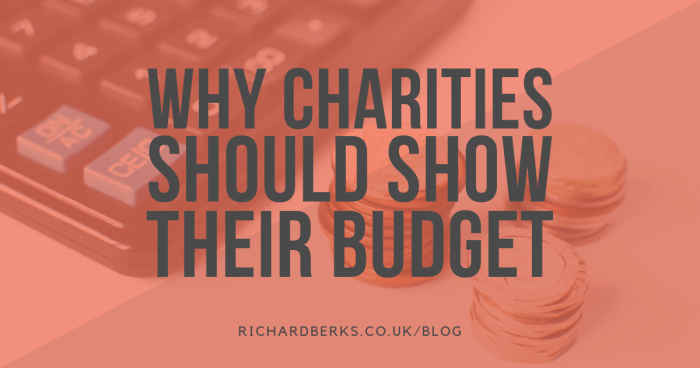 Why charities should show their budget