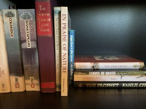 A collection of poetry books.