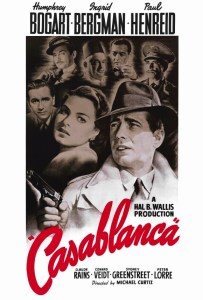Casablanca movie poster.