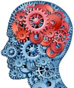 Gears inside of a head