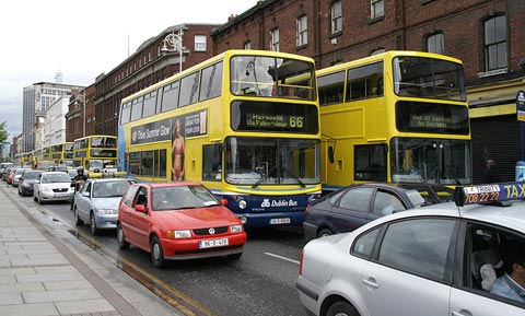 Dublin Traffic - Cars and Buses