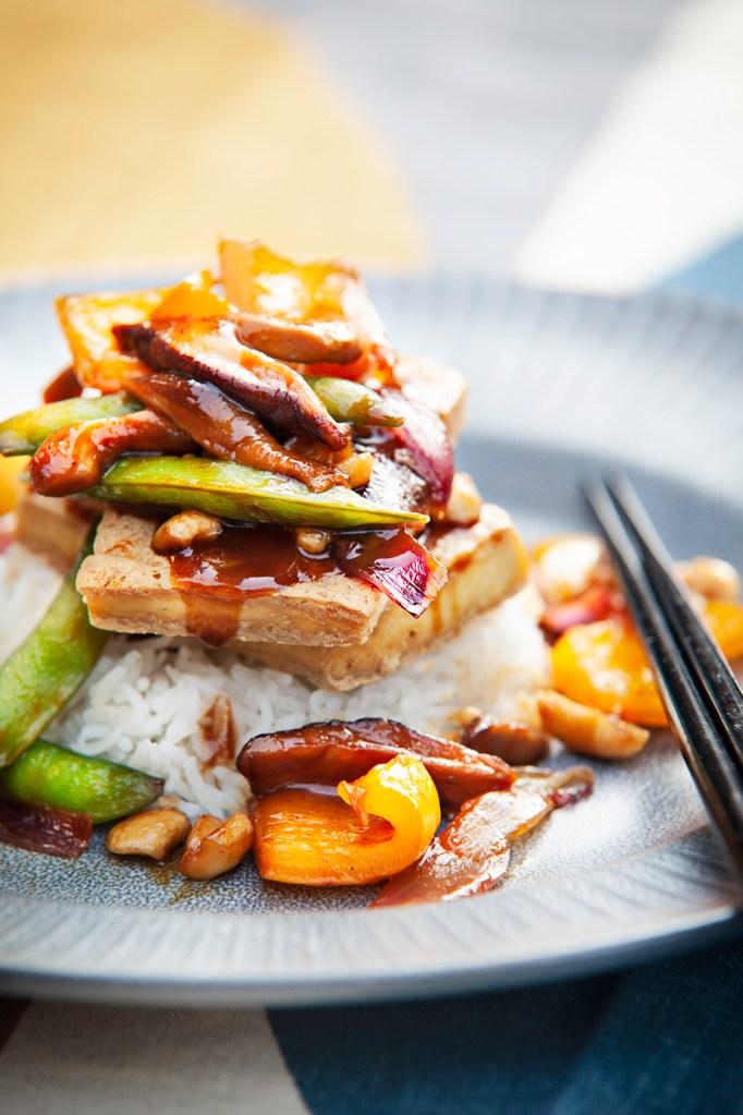 Crispy Tofu with Shiitake Mushrooms