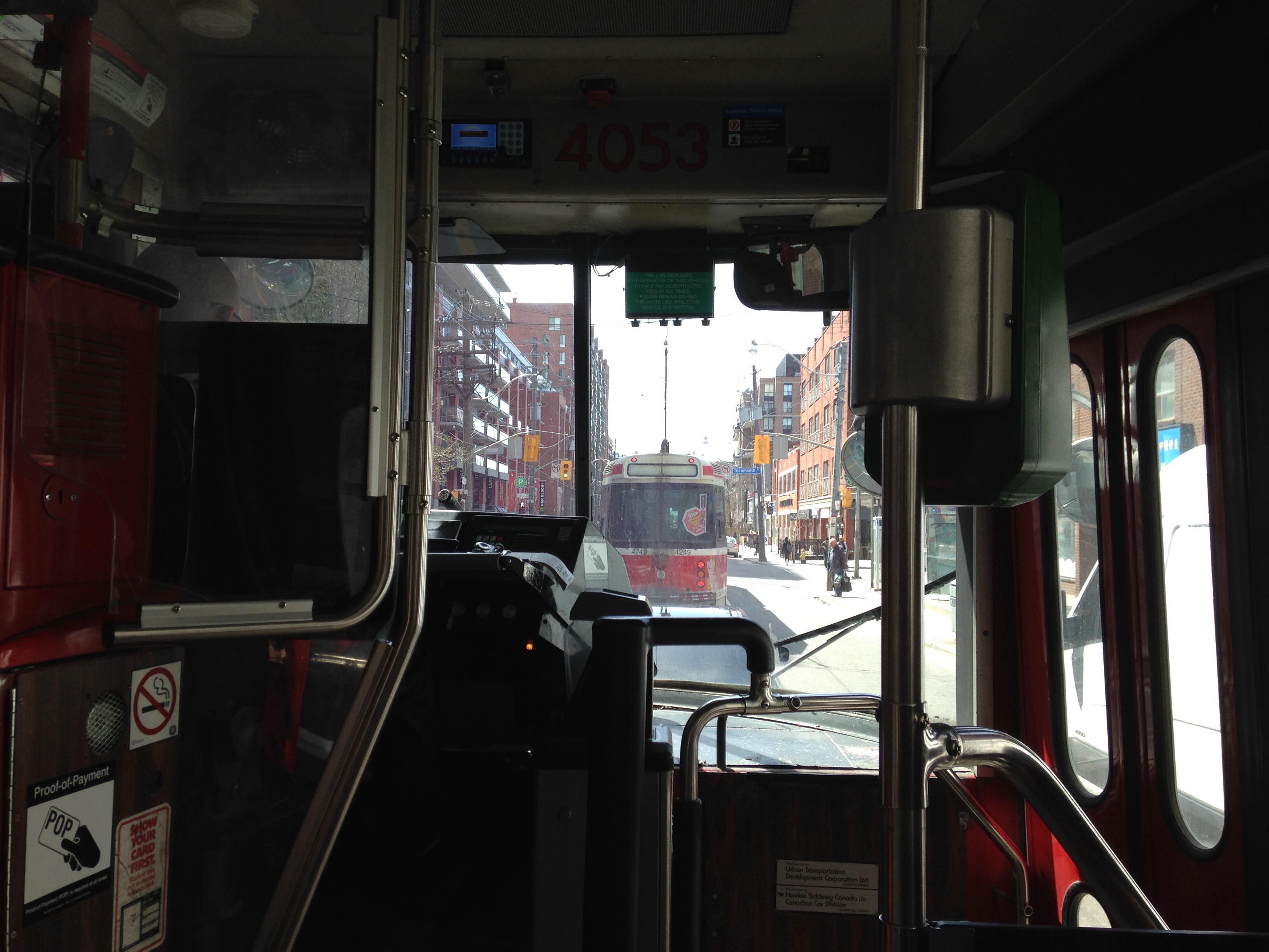On a TTC Streetcar