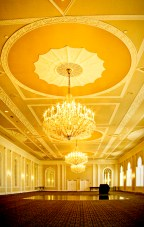 Inside one of the Berkely- Carteret Hotel's ball rooms