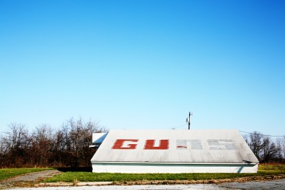 Guns - A roadside building in Delaware, USA
