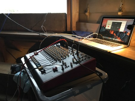 Setting up the audio mixer
