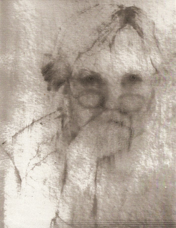 Annie Dillard's self-portrait sketch.