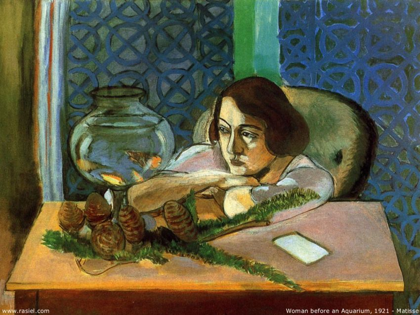 Matisse-Woman & Aquarium