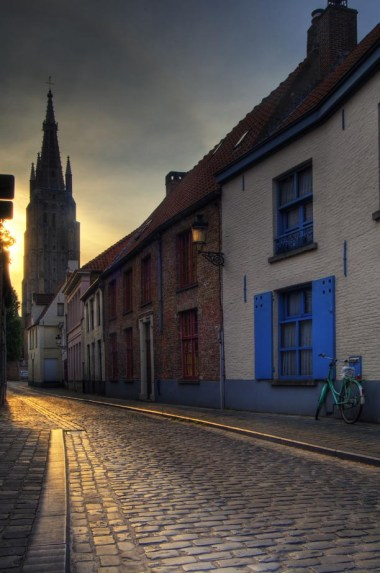 City streetscape, Bruges