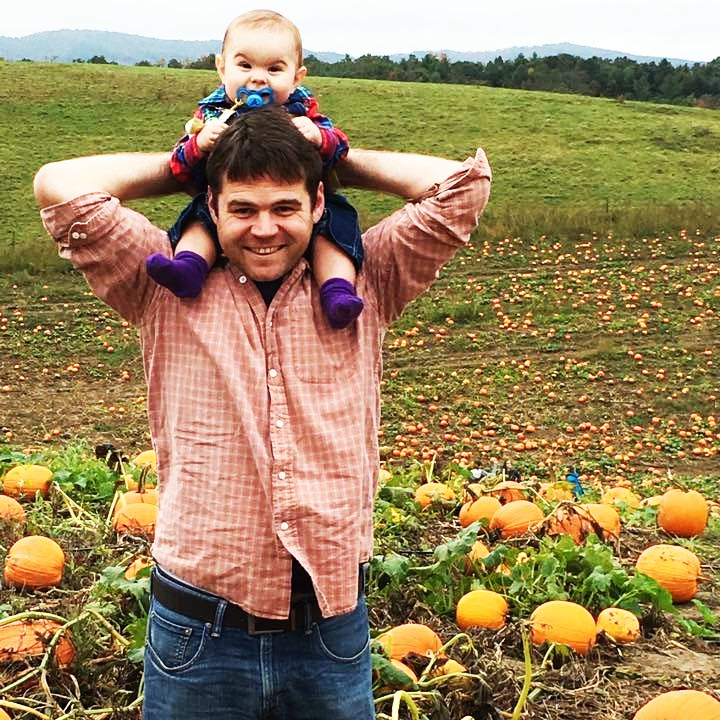 David, Kathy, pumpkins