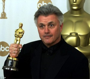 John Irving with his Oscar