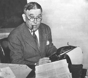 H. L. Mencken. (Henry L. Mencken.) Baltimore Sun Staff File Photo by Robert F. Kniesche. 9/20/50 MANDATORY CREDIT: Baltimore Examiner and Washington Examiner OUT ORG XMIT: BAL0909101149453148
