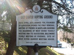 Old Quaker Burying Ground Marker
