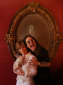 Ozzy Osbourne and his wife Sharon (and dog Lilly) at their home Friday in Beverly Hills, June 23, 2006. For an up front Weekend Calendar piece to advance Ozzfest.