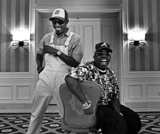 OutKast's Andre 3000, left, and Big Boi at the Four Seasons Hotel Saturday in Beverly Hills August 12, 2006. The Grammy-winning multiplatinum-selling rap group are stars of the new movie, Idlewyld.