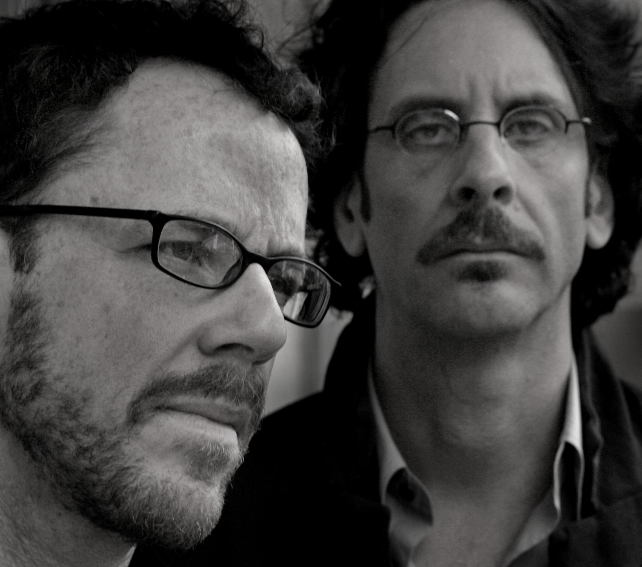"""Directors Joel and Ethan Coen at the Four Seasons hotel in Beverly Hills, Saturday, January 26, 2008. Their oscar-nominated, """"No Country for Old Men"""" is racking up the critical acclaim and is currently the favorite to win best picture, among others of its 8 nominations."""
