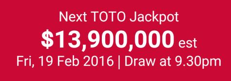TOTO Hong Bao Draw 2016