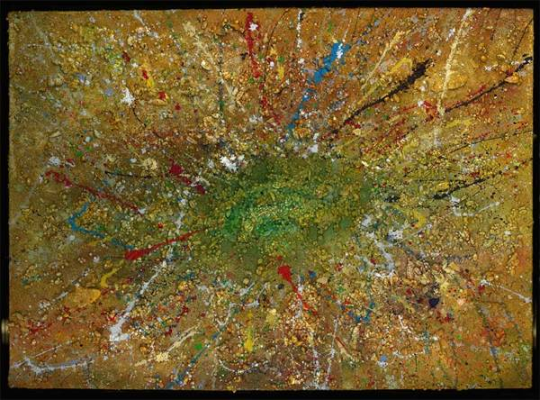 Richard Kennedy Abstract Painting: Greencom