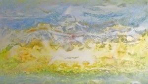 Erratic Jurassic: Dorset Coast semi-abstract Painting by Richard Kennedy