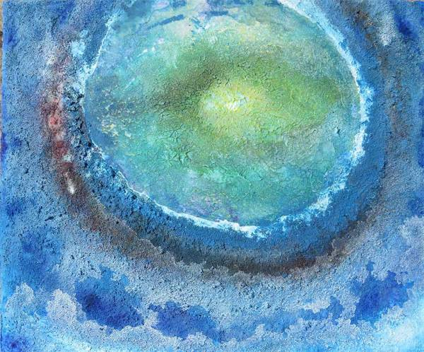 Coronavirus Blues - Abstract painting by Richard Kennedy