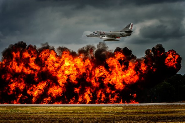 Fast Low Pass over exploding bombs