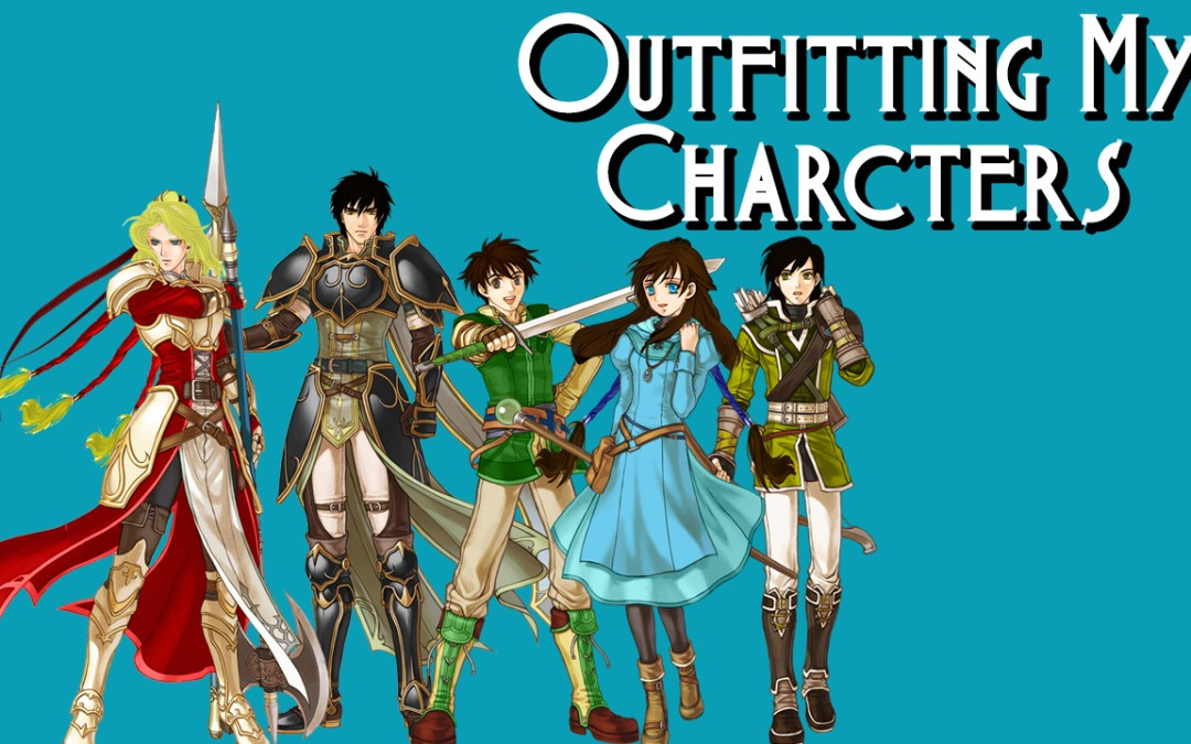Outfitting My Characters and artwork of the lead characters from The Burning Ash
