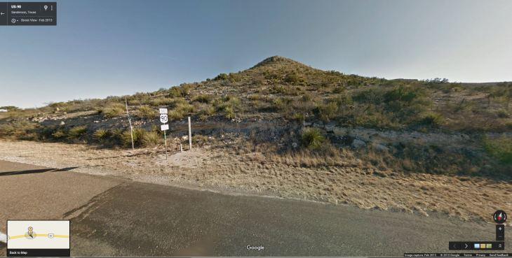 Pecos County Line 2013 Google Map