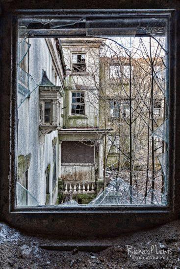 McNeal Mansion Window On Devastation by Richard Lewis