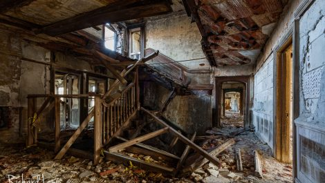 Total Devastation Mc Neal Mansion Grand Staircase