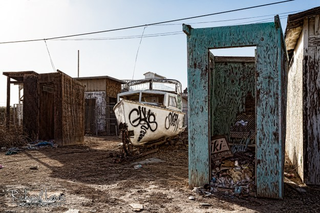 Bombay Beach Abandoned Boat by Richard Lewis