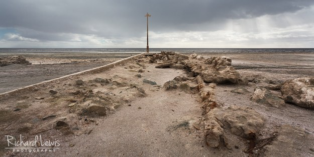 Abandoned Bombay Beach Pier Panorama by Richard Lewis