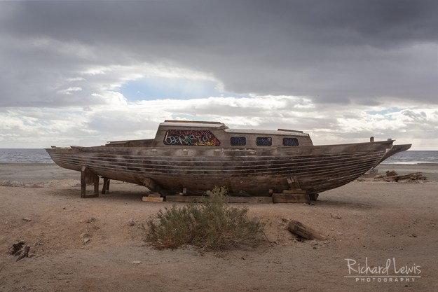 Abandoned Sailboat on Bombay Beach by Richard Lewis