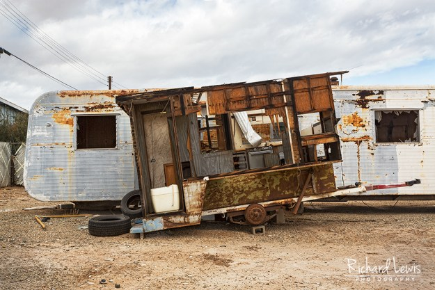 Portable Kitchen in Bombay Beach by Richard Lewis