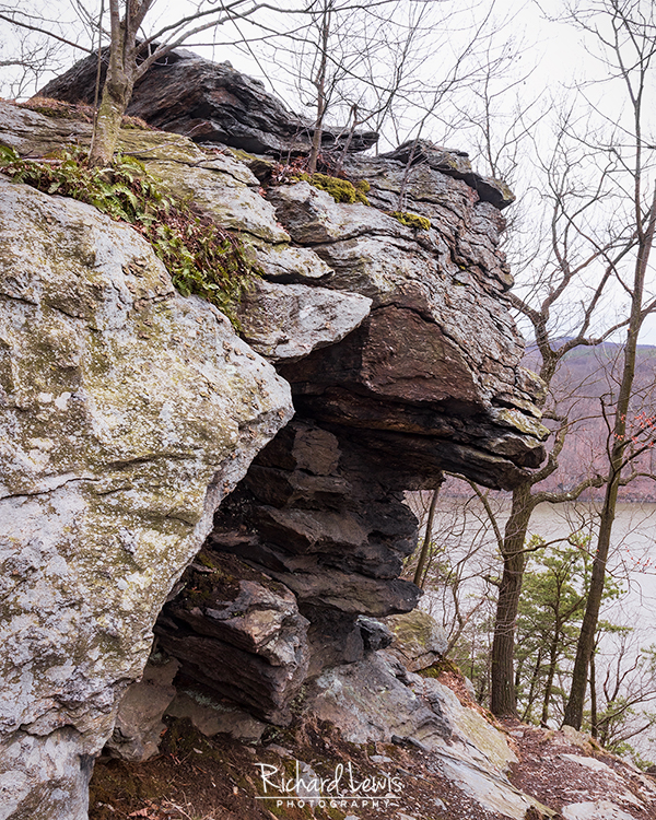 Rock Outcropping On The Susquehanna Conestoga Trail