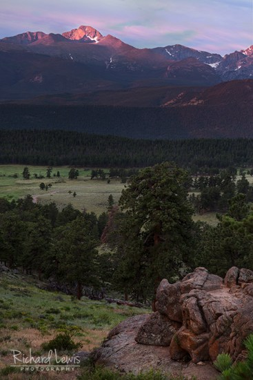 Longs Peak At Dawn Rocky Mountain National Park