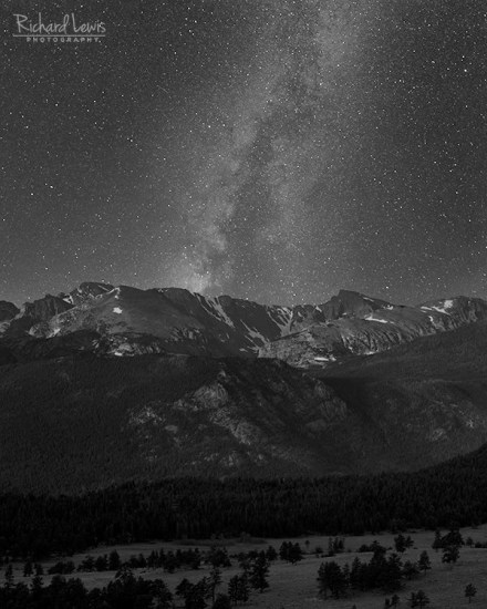 Milky way in Rocky Mountain National Park