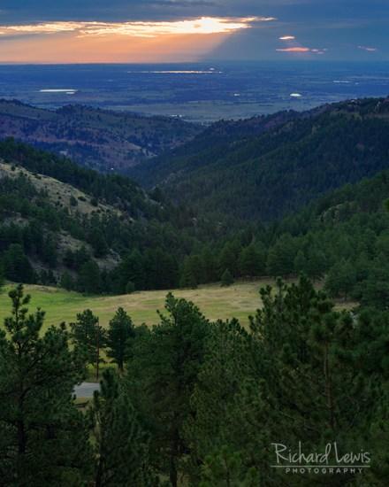 Morning Light In Boulder Colorado