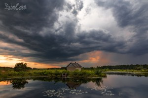Storm At Sunset in The Pine Barrens by Richard Lewis