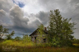 Storm Light On The Old Cabin in the Pine Barrens