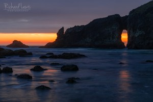 Twilight Through The Arch Olympic National Park Second Beach
