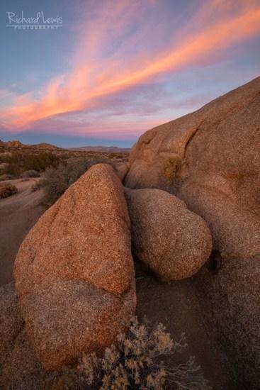 Jumbo Rocks Sunset Joshua Tree