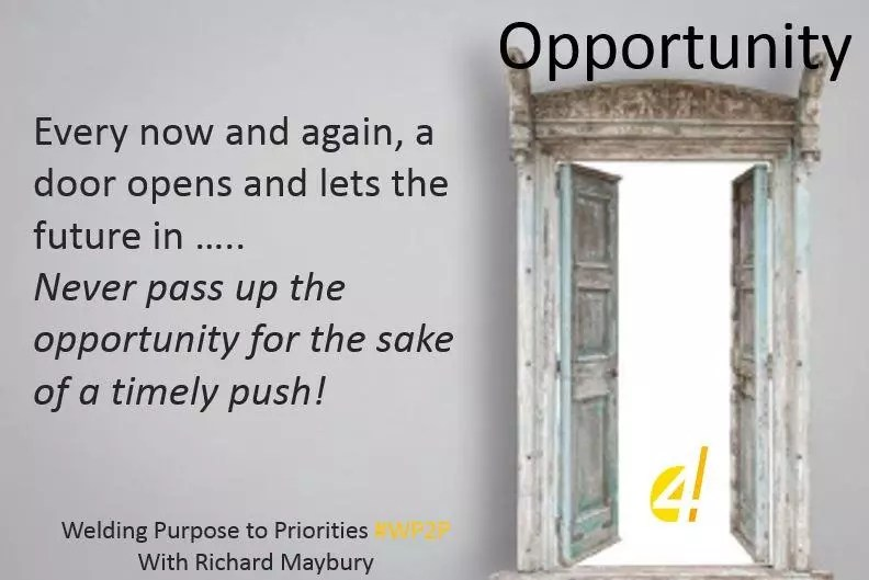 Make the most of opportunities Weld purpose to priorities with Richard Maybury #wp2p
