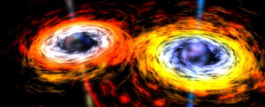 black holes creating gravitational waves