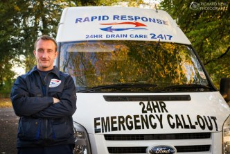 Business photography - Rapid Response drain care