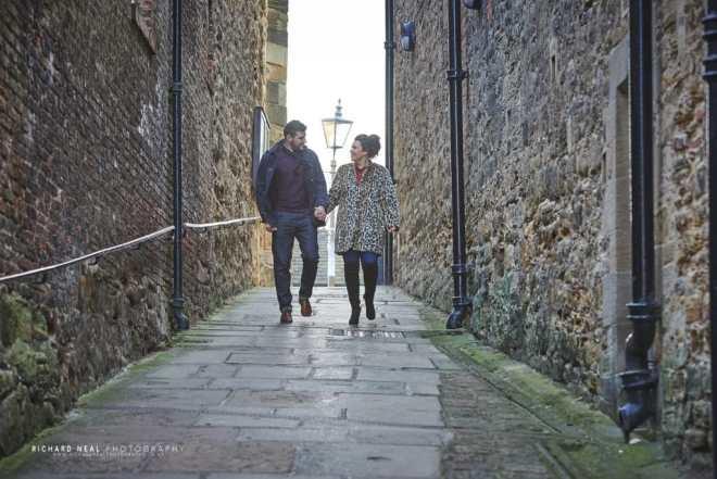 Durham city riverside engagement photos_7