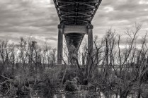 Veteran's Memorial Bridge from Below; Gramercy, Louisiana, 2015