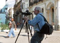 Richard Sexton Photographing in Havana, 2009; photo by Rockwell Carr