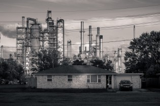 House in Meraux, LA, w/Valero refinery in background