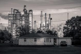 House in Meraux, LA, w/Valero refinery in background