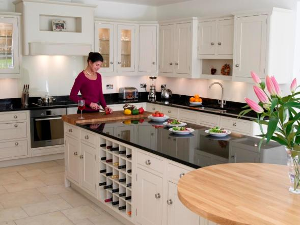 Counter and island in Star Galaxy granite